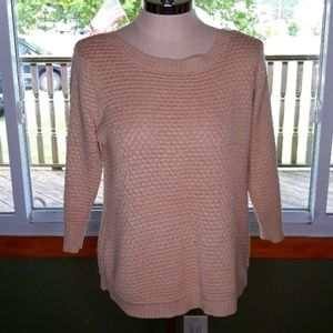 Fever knit Women's sweater size large Tan Tub1